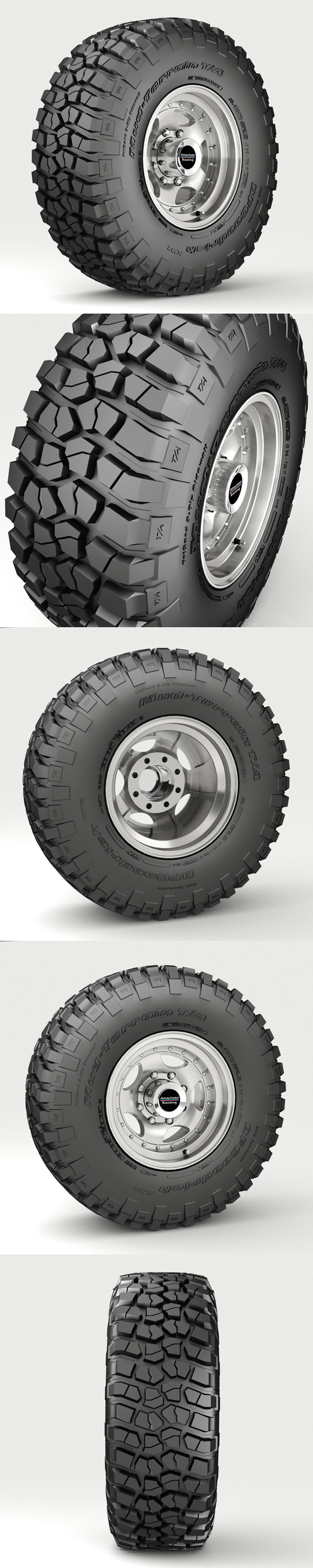Off Road wheel and tire 3 - 3DOcean Item for Sale