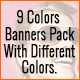 9 Color Themes | Online Shopping | Animated Google Banner is a Beautiful Set of Banner Templates.
