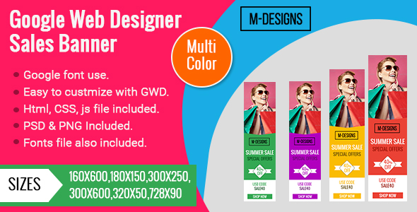 Download 9 Color Themes | Online Shopping | Animated Google Banner is a Beautiful Set of Banner Templates.