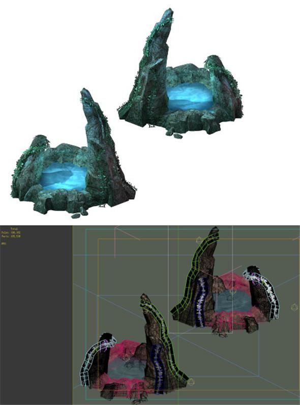 Game model - well springs wellhead - 3DOcean Item for Sale
