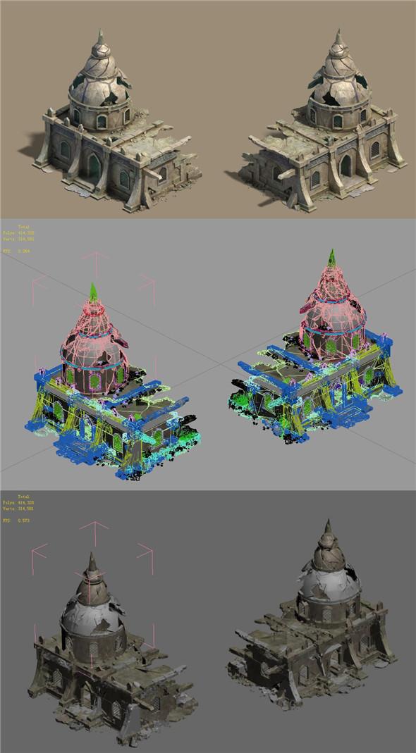 Desert - Broken Building - 3DOcean Item for Sale