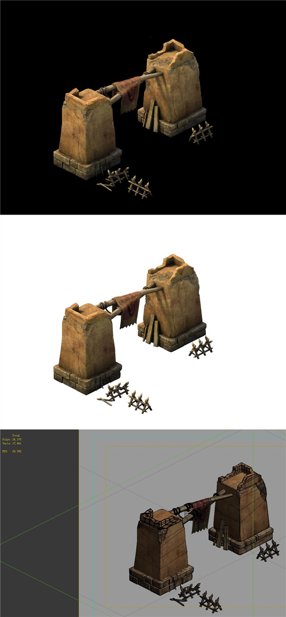 Desert Gobi - Tribal Defense Tumen 02 - 3DOcean Item for Sale