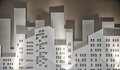 Small scale model mockup of a city