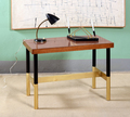 Antique Desk in Office with Abstract Artwork