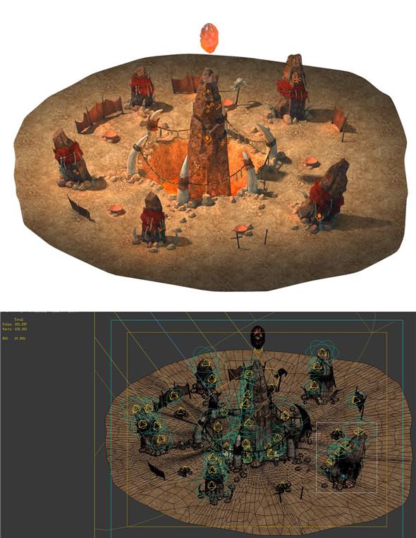 Desert Gobi - Shaman magic array - 3DOcean Item for Sale