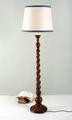 Standard or floor lamp with barley twist column