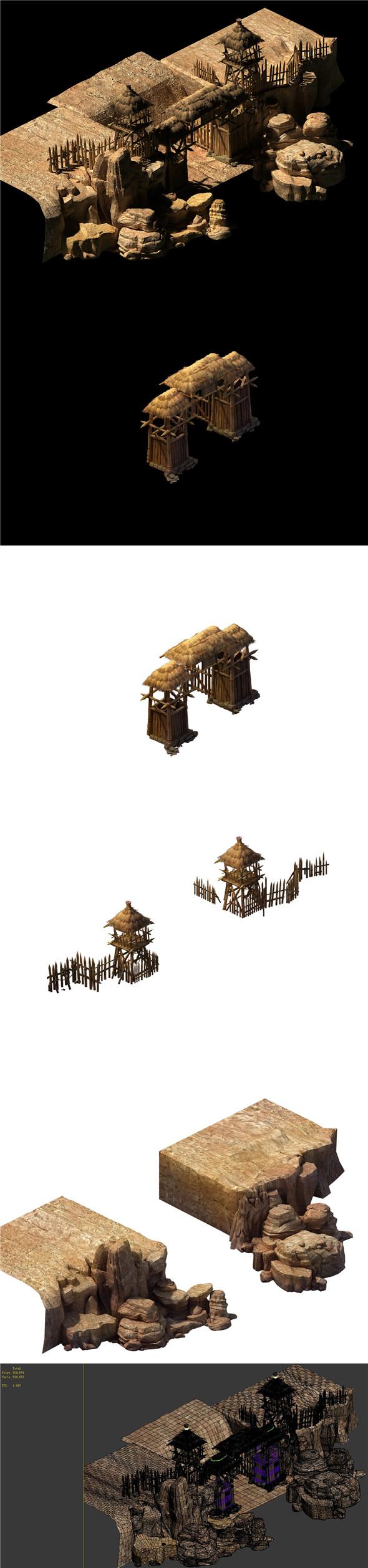 Desert Gobi - the cottage gate - 3DOcean Item for Sale