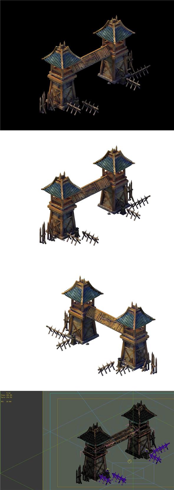 Desert Gobi - Cottage Gate 01 - 3DOcean Item for Sale