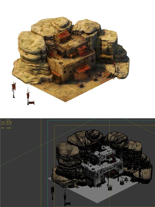 Desert Gobi - Cottage Main House 04 - 3DOcean Item for Sale