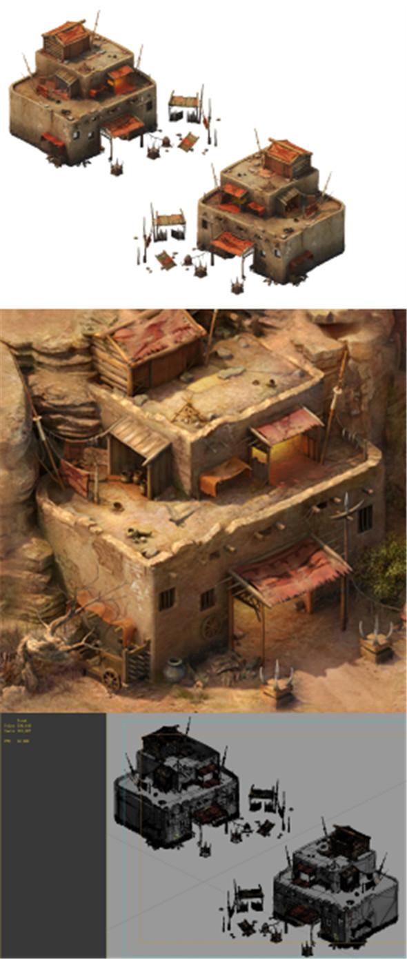 Desert Gobi - Cottage Main House 07 - 3DOcean Item for Sale
