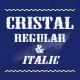 Cristal Typeface