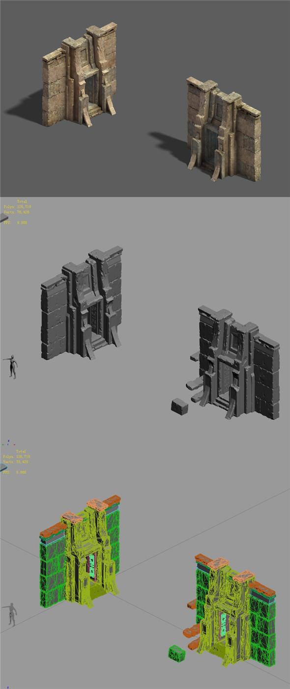 Desert - earth gate - 3DOcean Item for Sale