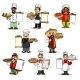 Chefs Vector Icons and Restaurant Menu