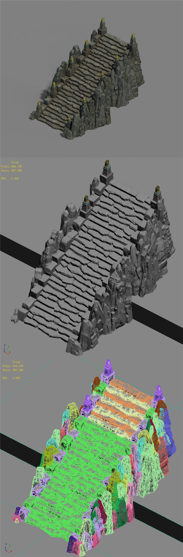 Mountain - stairs - 3DOcean Item for Sale