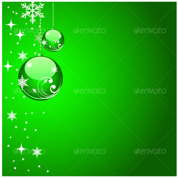 Green christmas artwork