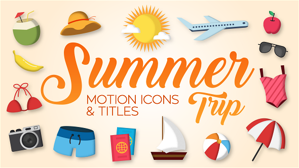 VideoHive Summer Trip Motion Icons & Titles 19806718