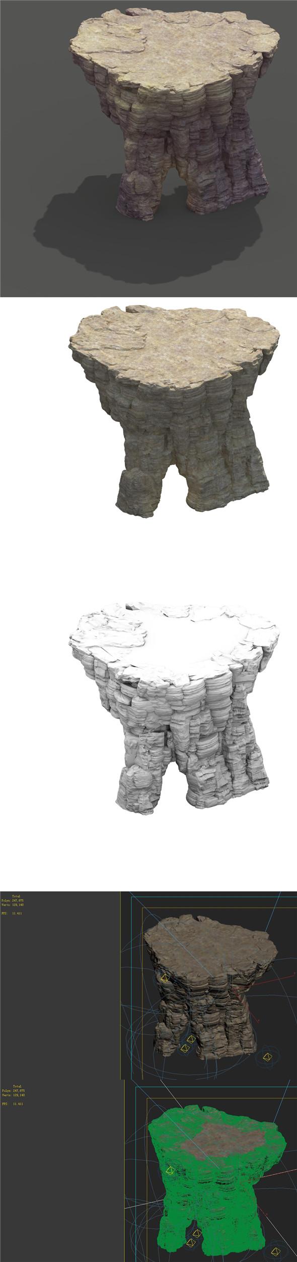 Mountain - Terrain 07 - 3DOcean Item for Sale