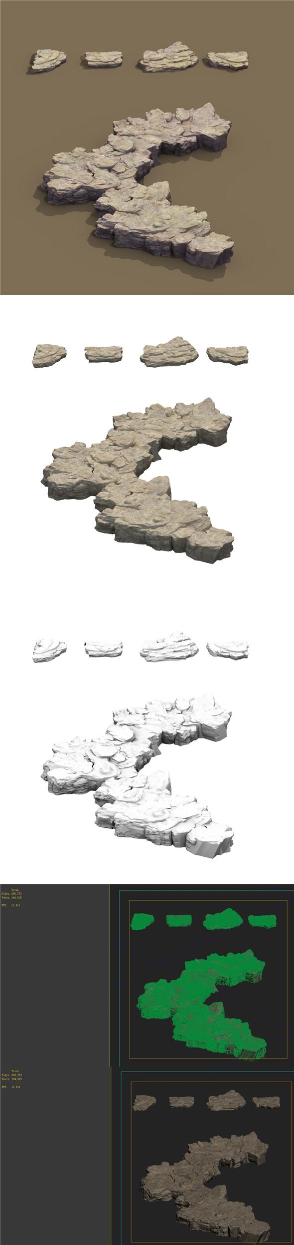 Mountain - Terrain 09 - 3DOcean Item for Sale