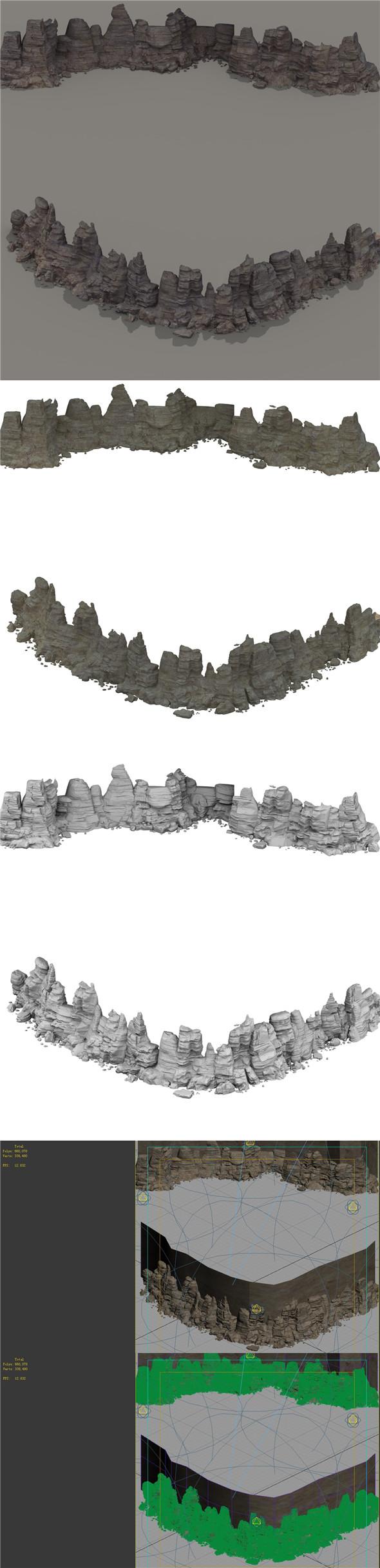 Mountain - terrain 10 - 3DOcean Item for Sale