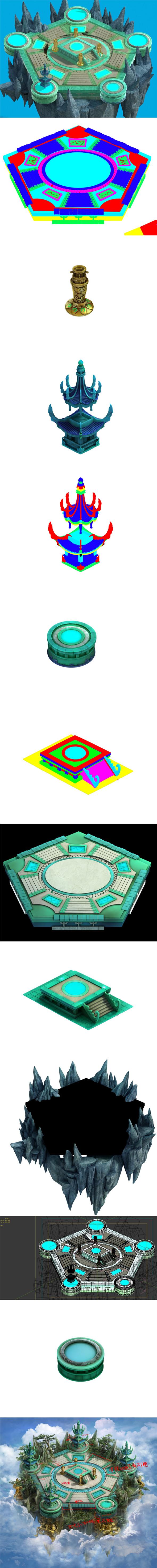 Game model - Ascension stage flying point - 3DOcean Item for Sale