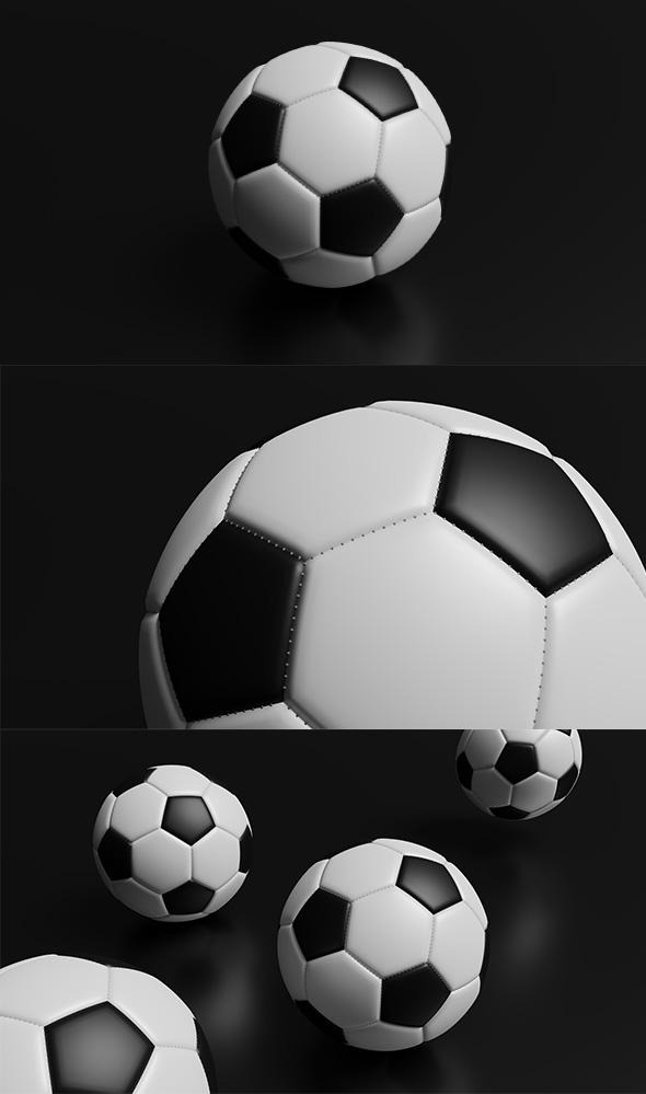 High Detailed Football Ball - 3DOcean Item for Sale