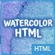 9 Watercolor HTML Multipurpose Templates