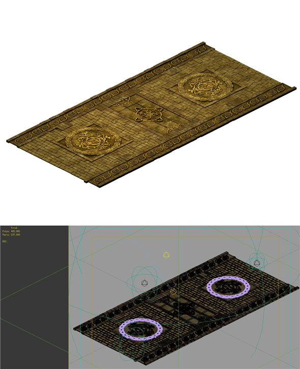 Game model - stone carved ground surface - 3DOcean Item for Sale
