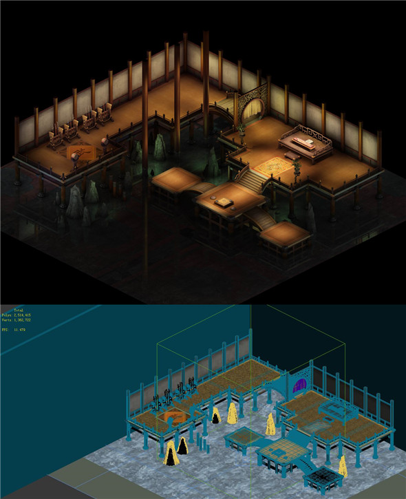 Game Model - Indoor Practice Field - 3DOcean Item for Sale