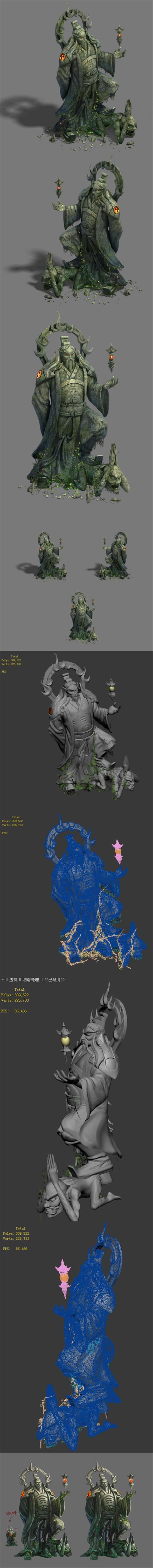 Shushan - statue - 3DOcean Item for Sale