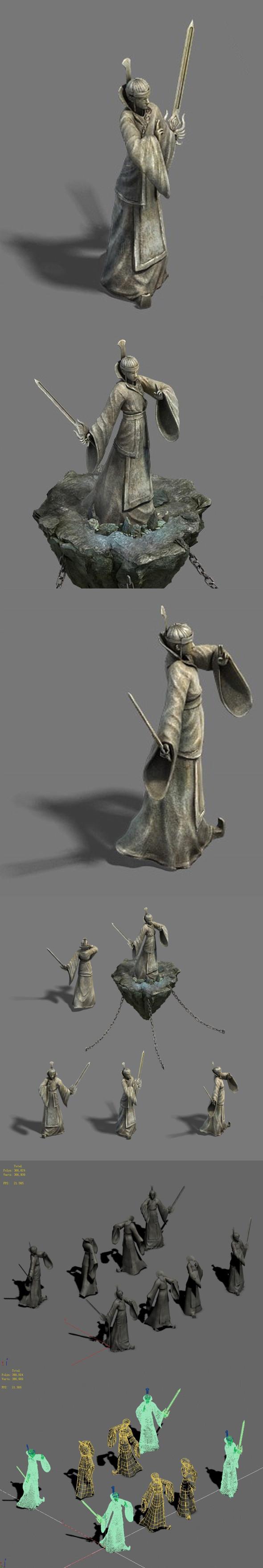 Shushan - Statue 02 - 3DOcean Item for Sale
