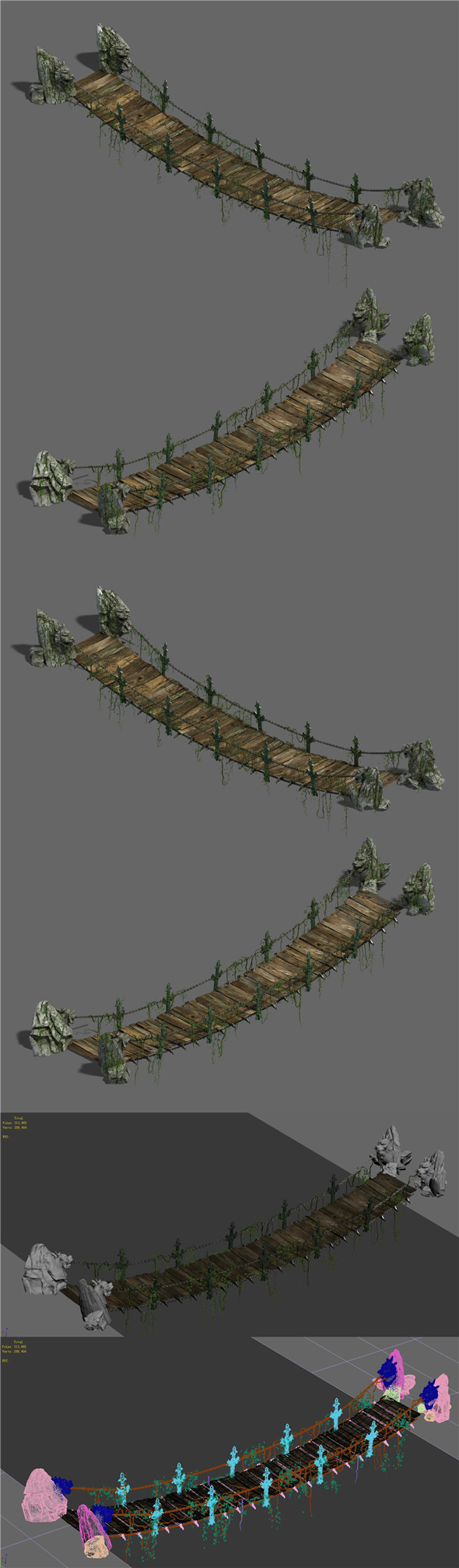 Shushan - suspension bridge - 3DOcean Item for Sale