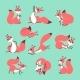 Cartoon Cute Squirrel. Little Funny Squirrels