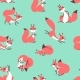 Little Cute Squirrels. Seamless Pattern for Gift