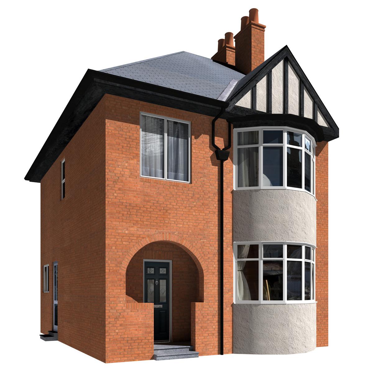 3DOcean 2 Storey House 1939052
