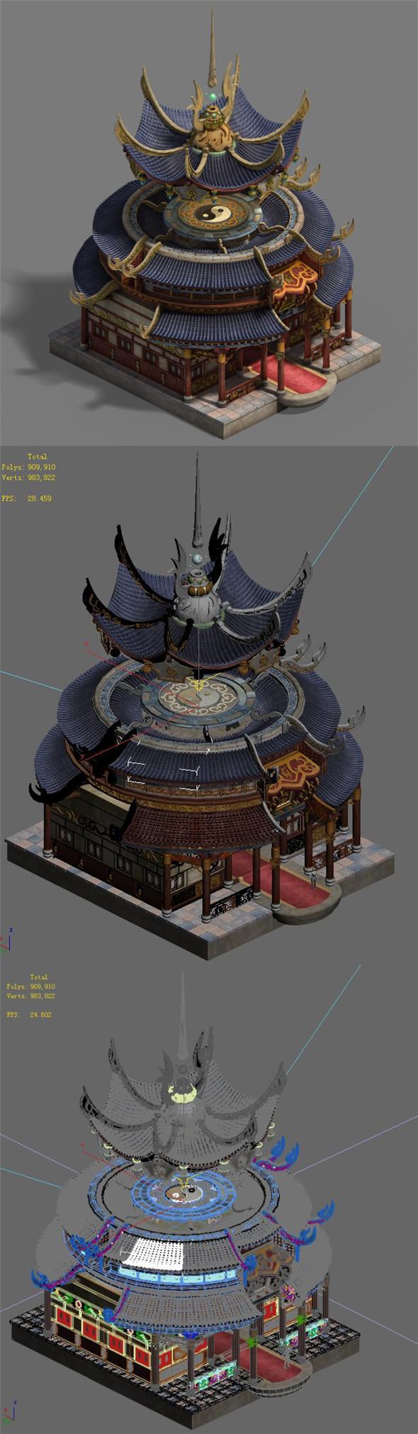 Shushan - side hall - 3DOcean Item for Sale