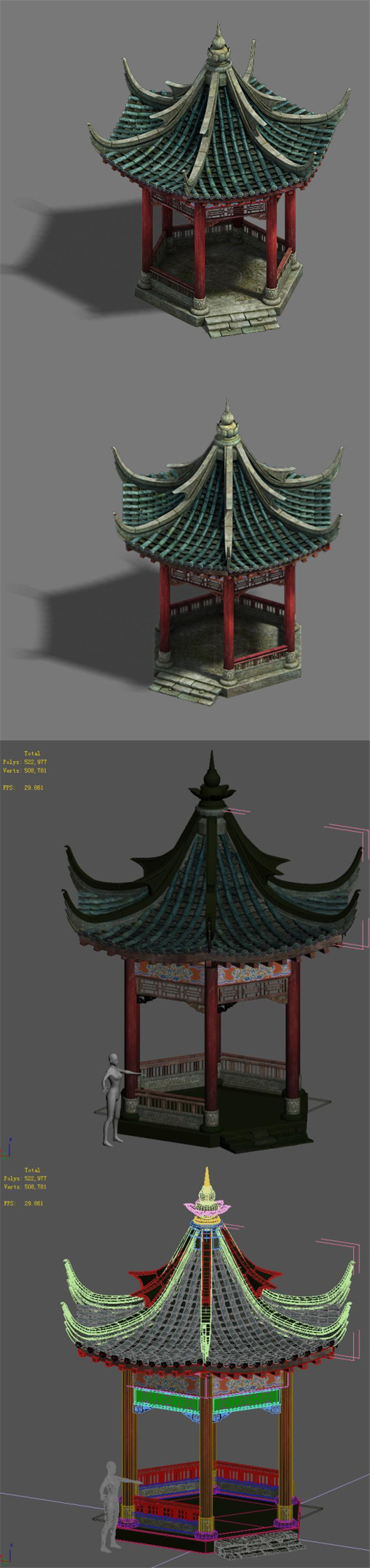 Shushan - pavilion - 3DOcean Item for Sale