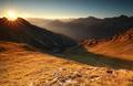 beautiful sunrise in high Alps