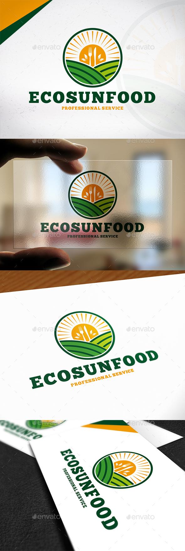Eco Sun Food Logo