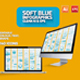Soft Blue Infographic Set Design