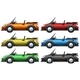 Convertible Cars in Six Colors