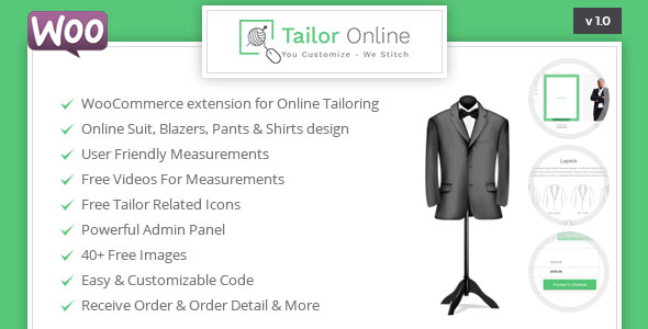 Tailor Online – WooCommerce Plugin for Online Custom Tailoring (WooCommerce) images