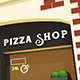 Low Poly Pizza Shop