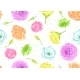 Seamless Pattern with Decorative Delicate Flowers