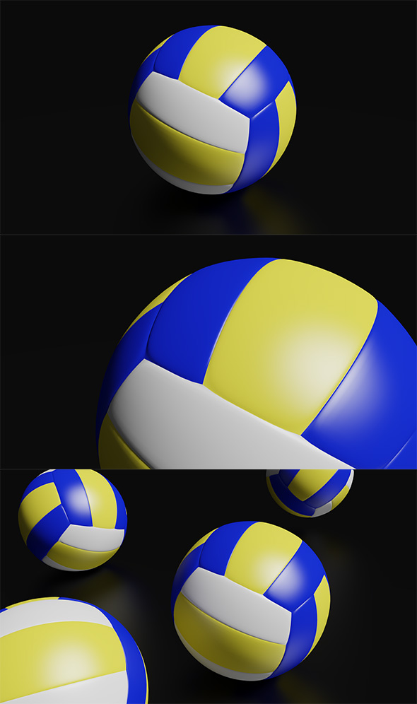 3DOcean High Detailed Volleyball Ball 19813868