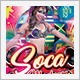 Soca Madness Color Party Flyer