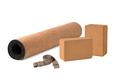 Yoga Cork Mat Set Eco Friendly on White Background Cork Mat Set Non slip Eco Friendly