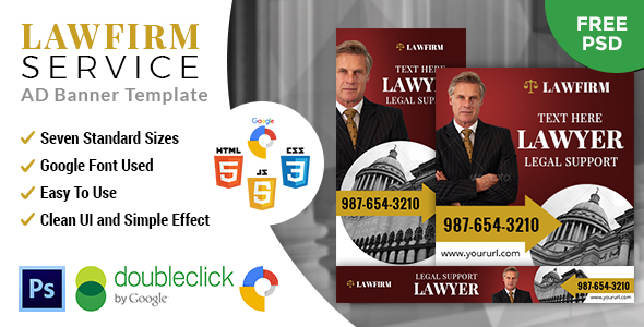Download Lawfirm | HTML 5 GWD Animated Google Banner