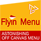 WordPress Off Canvas Menu - FlyIn Menu