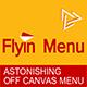 WordPress Off Canvas Menu - FlyIn Menu