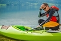 Resting Kayaker on the Shore